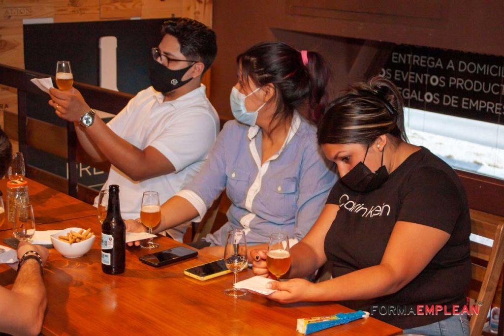 excursión de la Escuela de Hostelería a cata de cervezas